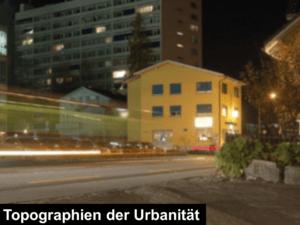 topographien der urbanität